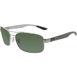 Ray-Ban Men's Tech RB8316-004-62 Grey Rectangle Sunglasses