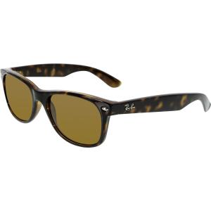 Ray-Ban Women's Polarized Wayfarer RB2132-902/57-55 Tortoiseshell Wayfarer Sunglasses