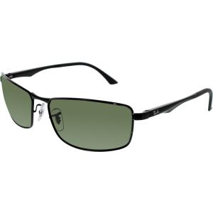Ray-Ban Men's Polarized Active RB3498-002/9A-61 Black Rectangle Sunglasses