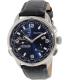 Nautica Men's NAD19507G Black Leather Analog Quartz Watch - Main Image Swatch