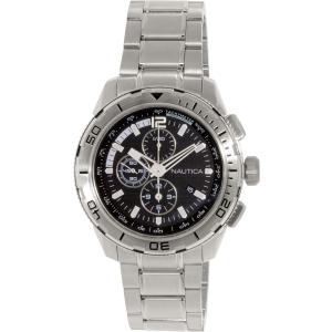 Nautica Men's N22637G Silver Stainless-Steel Quartz Watch