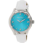 Nautica Women's N10509M Silver Leather Quartz Watch