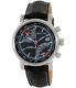 Nautica Men's NAD17503G Black Leather Analog Quartz Watch - Main Image Swatch