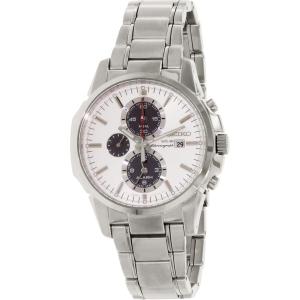 Seiko Men's SSC083 Silver Stainless-Steel Quartz Watch