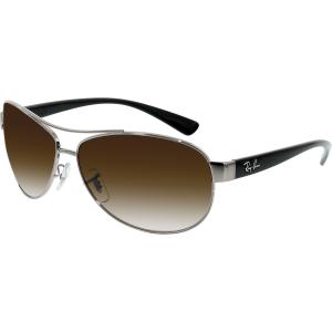 Ray-Ban Men's Gradient Active RB3386-004/13-63 Gunmetal Oval Sunglasses