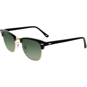 Ray-Ban Men's Polarized Clubmaster RB3016-901/58-49 Black Round Sunglasses