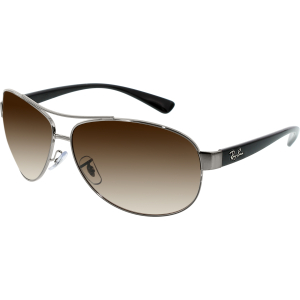 Ray-Ban Men's Gradient Active RB3386-004/13-67 Silver Oval Sunglasses