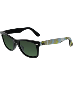 Ray-Ban Men's Wayfarer RB2140F-1155-52 Black Multi Texture Wayfarer Sunglasses