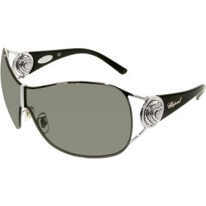 Chopard Women's  95209-0161 Silver Shield Sunglasses