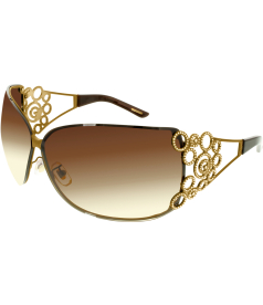 Chopard Women's  95209-0165 Brown Rimless Sunglasses
