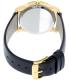 Movado Men's Museum 0606876 Black Leather Swiss Quartz Watch - Back Image Swatch
