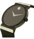 Movado Men's Sapphire 0606780 Black Silicone Swiss Quartz Watch - Side Image Swatch