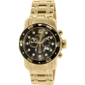 Invicta Men's Pro Diver 80064 Gold Stainless-Steel Swiss Chronograph Watch