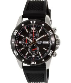 Citizen Men's Chronograph AN3500-02E Black Rubber Quartz Watch