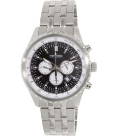 Citizen Men's Chronograph AN8060-57E Silver Stainless-Steel Quartz Watch
