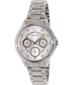 Citizen Women's ED8140-57A Silver Stainless-Steel Quartz Watch