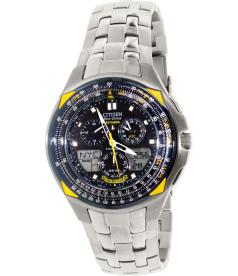 Citizen Men's Eco Drive JR3090-58M Silver Titanium Quartz Watch