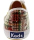 Keds Women's Champion Distressed Plaid Ankle-High Canvas Fashion Sneaker - Back Image Swatch
