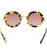 Miu Miu Women's  MU13NS-7S00A0-49 Tortoiseshell Round Sunglasses - Back Image Swatch