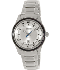 Citizen Men's Eco-Drive FE1094-65A Silver Stainless-Steel Eco-Drive Watch