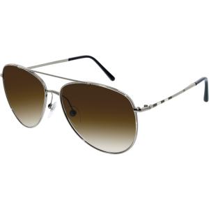 Burberry Women's Gradient  BE3072-100313-57 Gunmetal Aviator Sunglasses