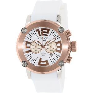 Mulco Men's M10 MW2-6263-016 White Rubber Swiss Chronograph Watch