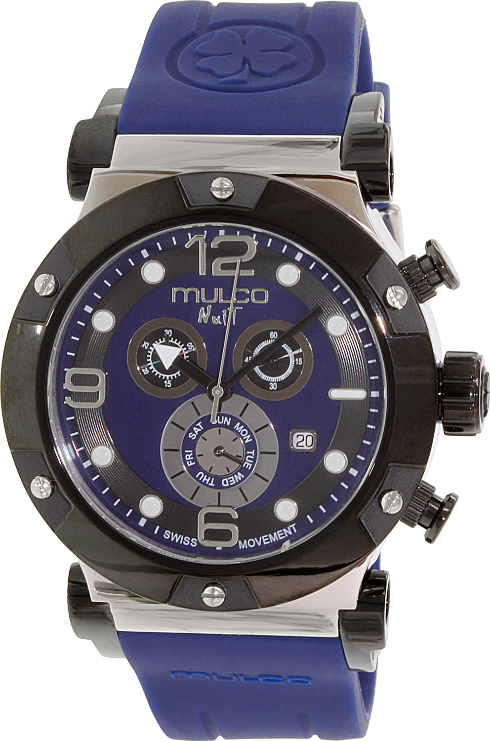 mulco s nuit mw5 1623 045 blue rubber swiss