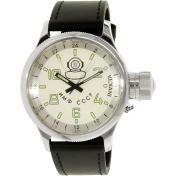 Invicta Men's Russian Diver INV-7003 Black Leather Swiss Quartz Watch
