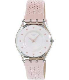 Swatch Women's 4 SFK387 Pink Leather Swiss Quartz Watch