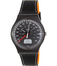 Swatch Men's Originals SUOB117 Black Silicone Swiss Quartz Watch