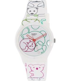 Swatch Women's Originals GW168 Multi Silicone Swiss Quartz Watch