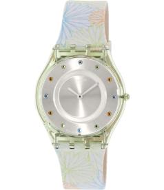 Swatch Women's Skin SFG105 Multi Leather Swiss Quartz Watch
