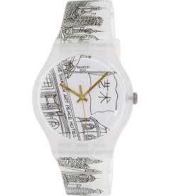 Swatch Men's Originals SUOZ197 White Silicone Swiss Quartz Watch