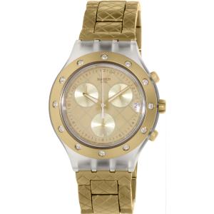 Swatch Women's Irony SVCK4082AG Gold Aluminum Swiss Quartz Watch