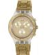 Swatch Women's Irony SVCK4082AG Gold Aluminum Swiss Quartz Watch - Main Image Swatch