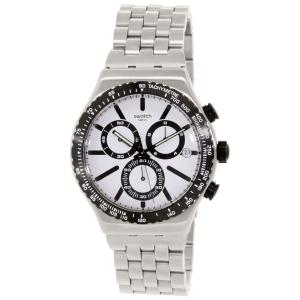 Swatch Men's Irony YVS416G Silver Stainless-Steel Swiss Quartz Watch