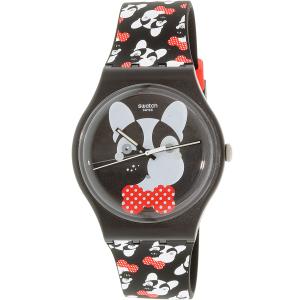 Swatch Women's Originals SUOB115 Black Silicone Swiss Quartz Watch