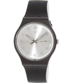 Swatch Men's Originals SUOB717 Black Silicone Swiss Quartz Watch