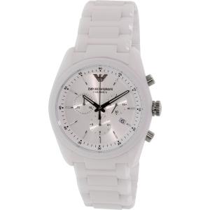 Emporio Armani Women's Ceramica AR1493 White Ceramic Swiss Chronograph Watch