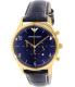 Emporio Armani Men's Classic AR1862 Blue Leather Quartz Watch - Main Image Swatch