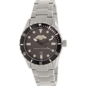 Armani Exchange Men's AX1709 Silver Stainless-Steel Quartz Watch