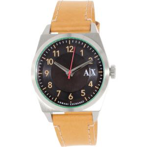 Armani Exchange Men's AX2304 Brown Leather Quartz Watch