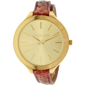 Michael Kors Women's Runway MK2390 Gold Leather Quartz Watch
