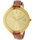 Michael Kors Women's Runway MK2390 Gold Leather Quartz Watch - Main Image Swatch