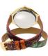Michael Kors Women's Runway MK2390 Gold Leather Quartz Watch - Back Image Swatch