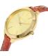 Michael Kors Women's Runway MK2390 Gold Leather Quartz Watch - Side Image Swatch