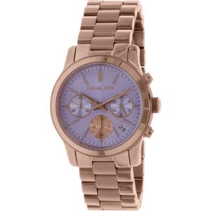 Michael Kors Women's Runway MK6163 Rose Gold Stainless-Steel Quartz Watch