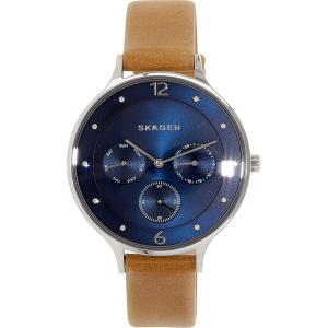Skagen Women's Anita SKW2310 Brown Leather Leather Quartz Watch