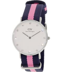 Daniel Wellington Women's Winchester 0962DW White Cloth Quartz Watch
