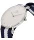 Daniel Wellington Women's Glasgow 0963DW Blue Nylon Quartz Watch - Side Image Swatch